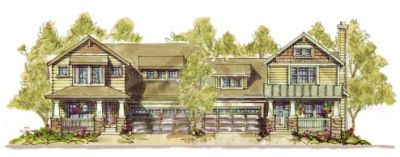 Craftsman Style Home Design Plan: 10-1107