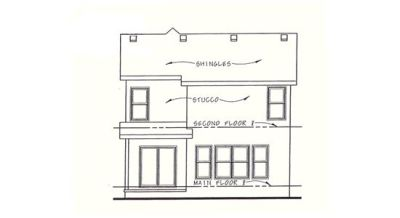 Rear Elevation Plan: 10-1112