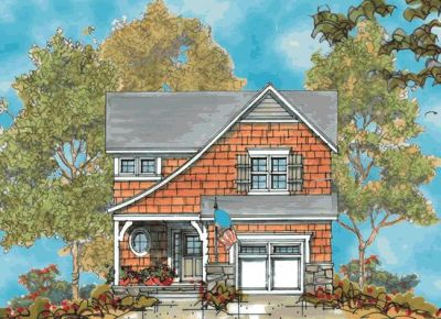 French-country Style Floor Plans Plan: 10-1114