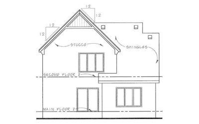Rear Elevations Plan:10-1115