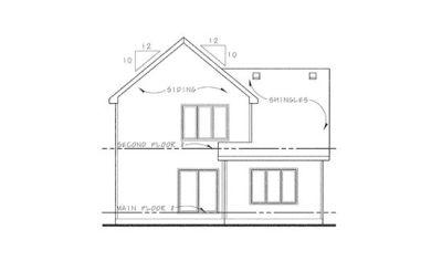Rear Elevations Plan:10-1116