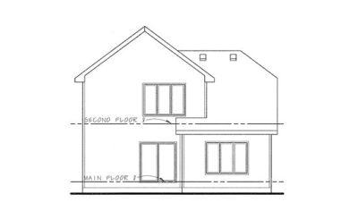 Rear Elevation Plan: 10-1117