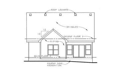 Rear Elevation Plan: 10-1118