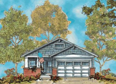 Craftsman Style Home Design Plan: 10-1119