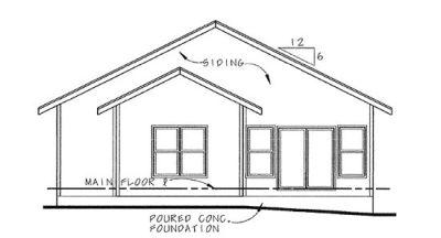 Rear Elevation Plan: 10-1119