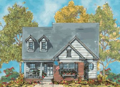 Traditional Style Home Design Plan: 10-1121