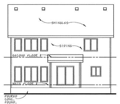 Rear Elevation Plan: 10-1122