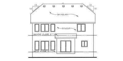 Rear Elevations Plan:10-1124