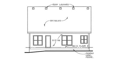 Rear Elevation Plan: 10-1125