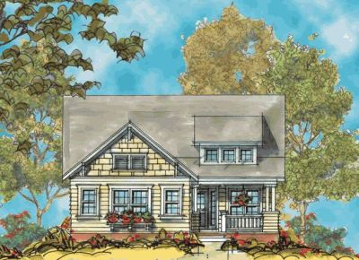 Craftsman Style Home Design Plan: 10-1127
