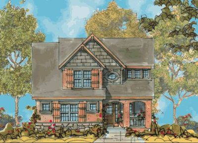 Country Style Home Design Plan: 10-1128