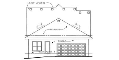 Rear Elevation Plan: 10-1128