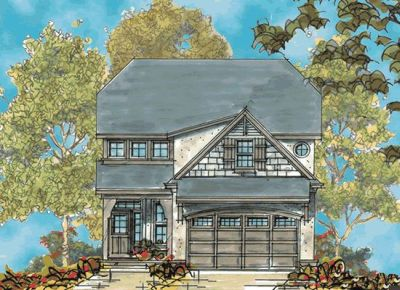 French-country Style Home Design Plan: 10-1130