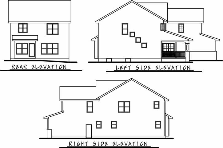 Rear Elevation Plan: 10-1131