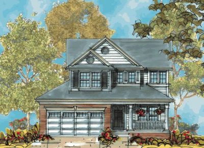 Country Style Home Design Plan: 10-1133