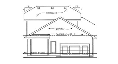 Rear Elevations Plan:10-1135