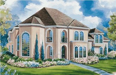 European Style House Plans Plan: 10-1145