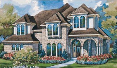 European Style Home Design Plan: 10-1146