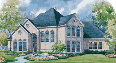 European Style House Plans Plan: 10-1152