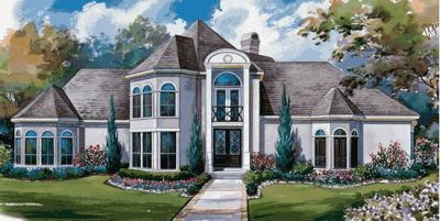 European Style House Plans Plan: 10-1153