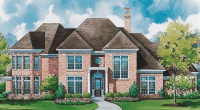 Southern Style Home Design Plan: 10-1156