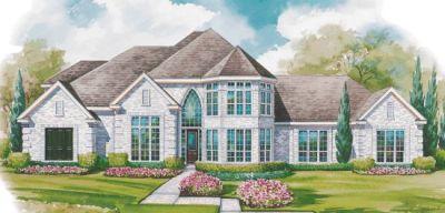 European Style Home Design Plan: 10-1158