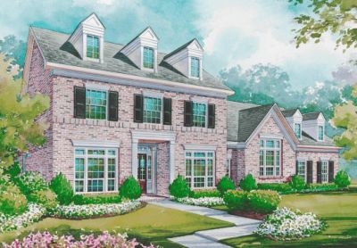 Early-american Style Home Design Plan: 10-1159