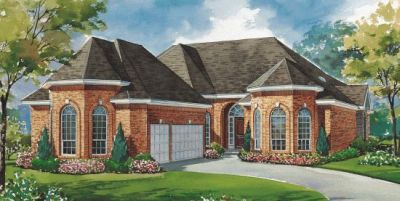 European Style Home Design Plan: 10-1161