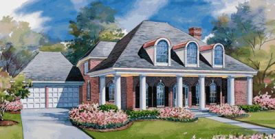 Southern Style House Plans Plan: 10-1162