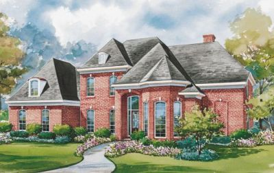 European Style Home Design Plan: 10-1163