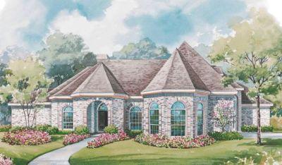 European Style Home Design Plan: 10-1168