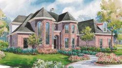 European Style Home Design Plan: 10-1170