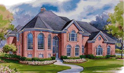 European Style Home Design Plan: 10-1172