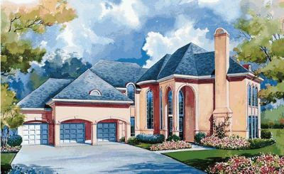 European Style House Plans Plan: 10-1173