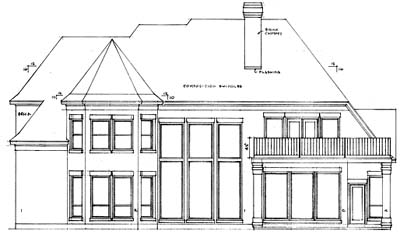 Rear Elevation Plan: 10-1175