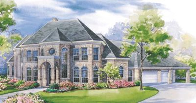 European Style House Plans Plan: 10-1178