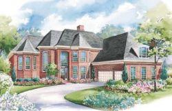 European Style Home Design Plan: 10-1181