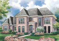 European Style Home Design Plan: 10-1182