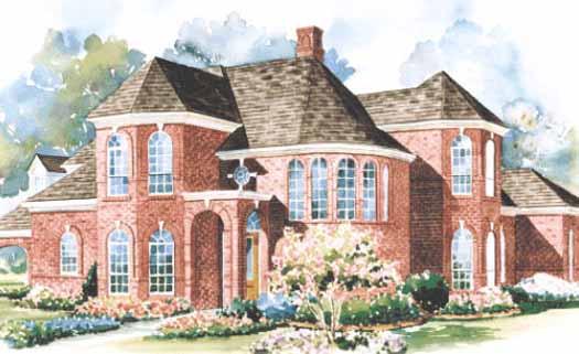 European Style House Plans Plan: 10-1183