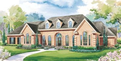 European Style Home Design Plan: 10-1185