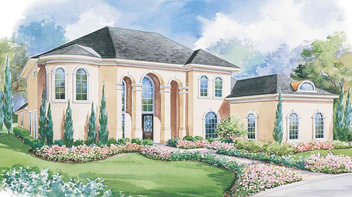 European Style House Plans Plan: 10-1188
