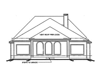 Rear Elevation Plan: 10-1191