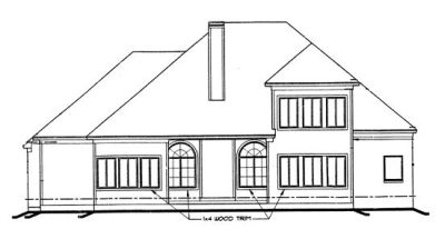 Rear Elevation Plan: 10-1192
