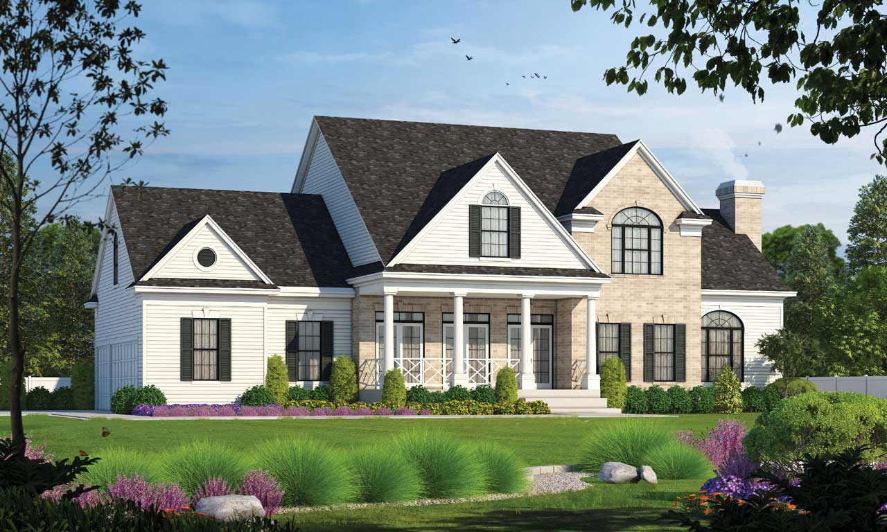 Southern Style Floor Plans Plan: 10-1193