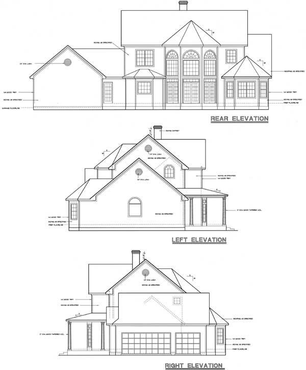 Rear Elevation Plan: 10-1193