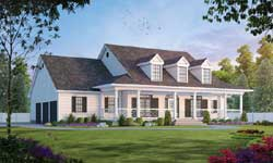 Modern-Farmhouse Style Home Design Plan: 10-1194