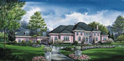 European Style House Plans Plan: 10-1196
