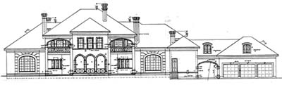 Rear Elevation Plan: 10-1196