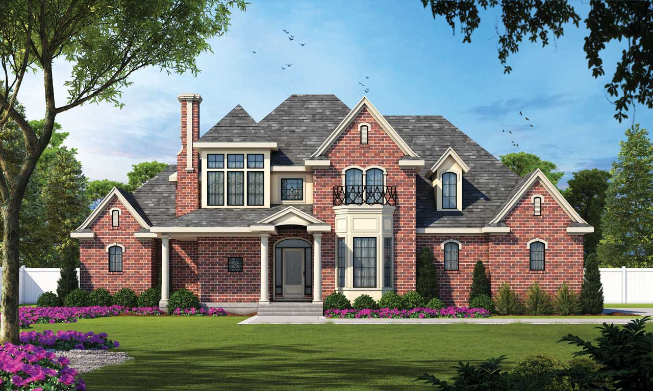 French-country Style House Plans Plan: 10-1197