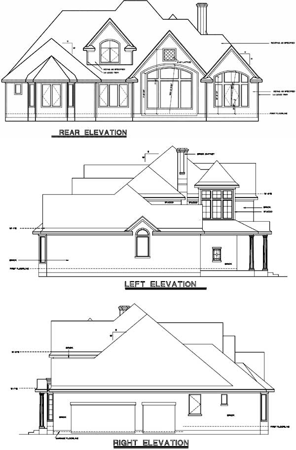 Rear Elevation Plan: 10-1197